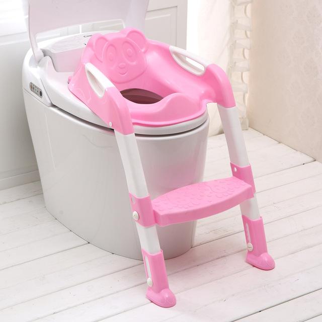 Nova Chegada Do Bebê Assento Do Bebê Potty Com Escada Assento Do Vaso Sanitário Espessamento Cadeira Dobrável Crianças Potties Higiênico Cadeira de Treinamento de Segurança
