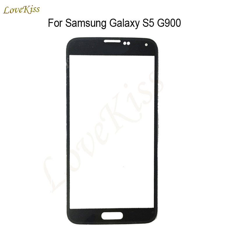 10pcs/lot Touch Panel Screen For <font><b>Samsung</b></font> <font><b>Galaxy</b></font> <font><b>S5</b></font> I9600 G900 G900F G900H G900I Touchscreen Front Outer <font><b>Glass</b></font> <font><b>Replacement</b></font> No LCD image