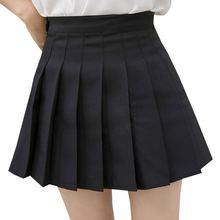 Женская модная летняя плиссированная юбка с высокой талией для