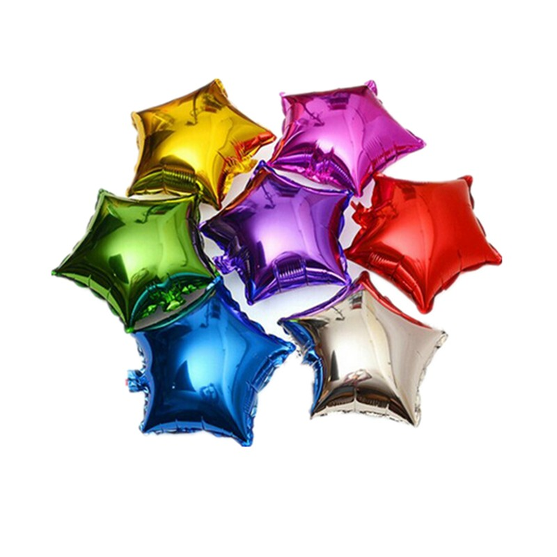 Free Shipping New 10pcs / lots10inch pentagram aluminum balloons birthday party