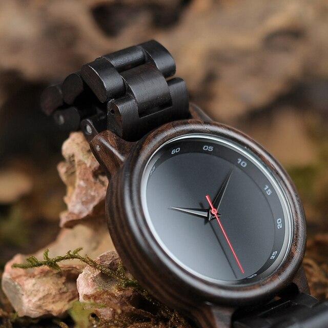 Bobo Bird Brand Wooden Elegant Men Quartz Watches 2