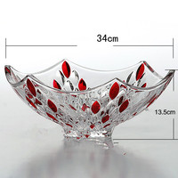 Fashion Fashion Large Fruit Plate Fruit Bowl Home Crystal Glass Dry Fruit Tray