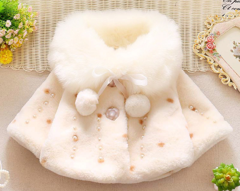 Winter warm thick velvet jacket for baby girls coat princess jackets (2)