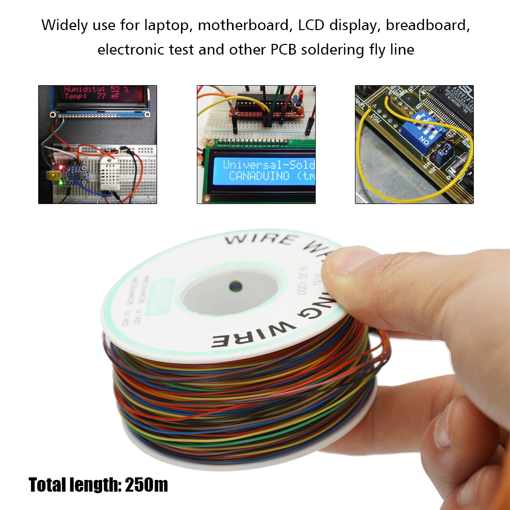 250M Electrical Wire Wrapping Wire Wrap Universal Copper /& Wire PCB Wire Tool