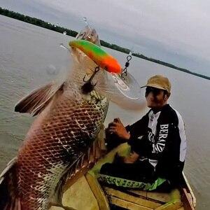 Image 5 - Trehookミノー釣りルアーwobblersトローリング用/パイク釣り10センチメートル9.5グラムフローティング偽/ハード餌黒ミノールアートラウト