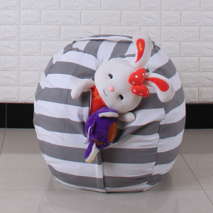 Image 4 - New Portable Canvas Stuffed Plush Toy Bag Foldable Kids Clothes Storage Bean Bag for Home Multi Purpose Organizer Pouch