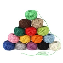 цена на Colored Jute Twine String,Colorful Natural Jute Twine 2mm 3 ply,Jute String,Valentine Gift Wrapping Twine,Arts Crafts Twine for