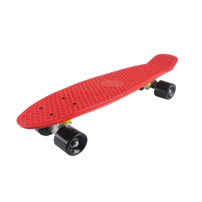5 couleurs Pastel quatre roues 22 pouces Mini Cruiser Skateboard rue longue planche à roulettes Sports de plein air pour adultes ou enfants