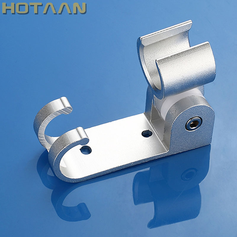 Free Shipping 1pc/lot Solid Aluminum Wall Mounted Hand Shower Holder Hook Pedestal Bracket In Wall Shower Accessories,YT-5177