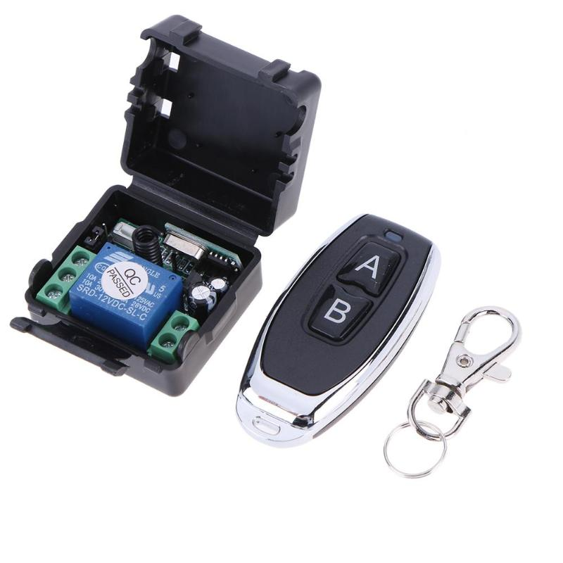 ALLOYSEED DC12V Relay 1CH Wireless Remote Control Switch Receiver Module RF 433Mhz Learning code Remote Controller freeshipping rs232 to zigbee wireless module 1 6km cc2530 chip