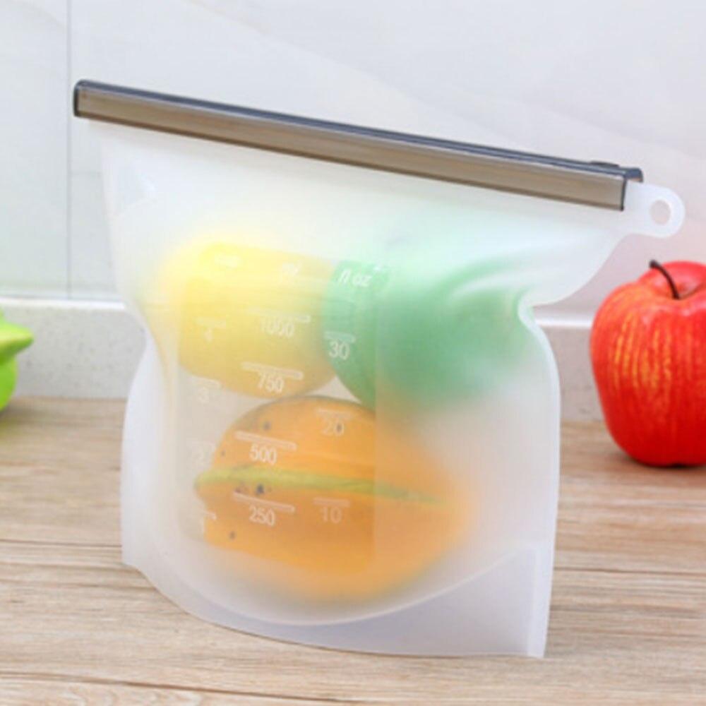Герметичная упаковка для пищевых продуктов 17,5*23 см, силиконовые многоразовые обертывания для хранения холодильника, сохраняющие свежесть, бытовые прозрачные вакуумные пакеты - Цвет: white