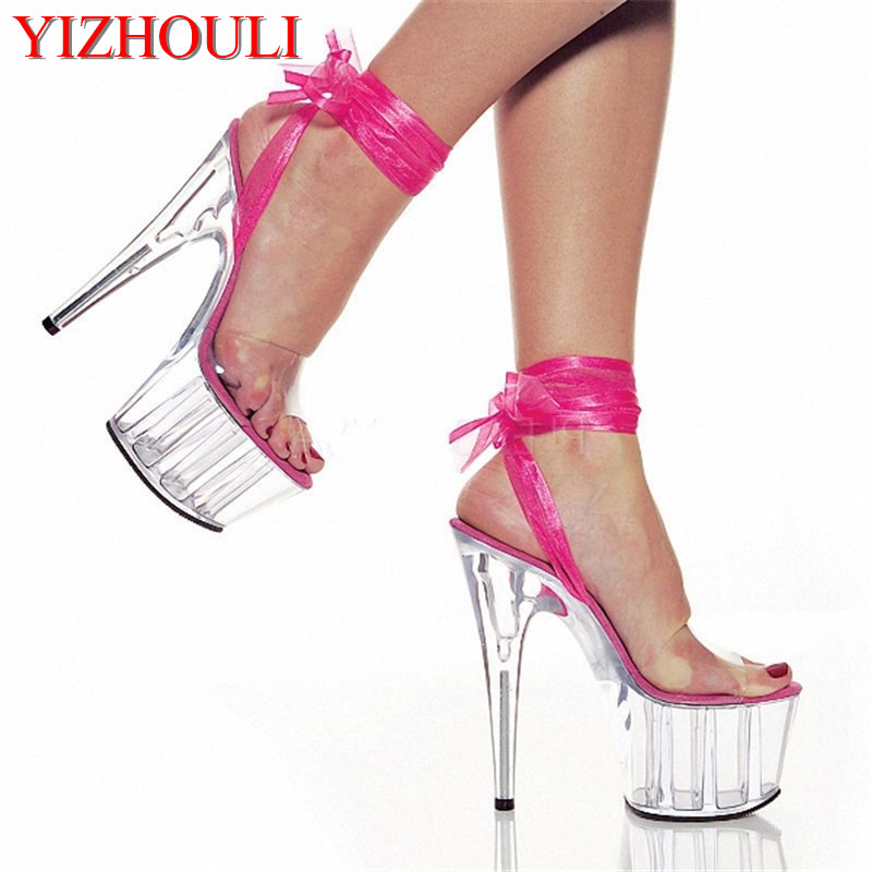 Sexy Crystal 15CM Super High Heel Platforms Pole Dance/Performance/Star/Model Shoes, Wedding Shoes, 7 Colours printio sheriff