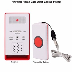 Wireless Home Care Alert Calling System For Elderly Patient Pregnant Children Disabled With Receiver+Call Transmitter Button