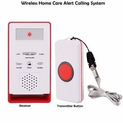 Wireless Home alerta atención sistema de llamada para el paciente de edad avanzada embarazadas los niños discapacitados con receptor + TRANSMISOR Button