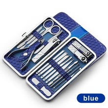 18 in 1 Stainless Steel Manicure set Professional nail clipp