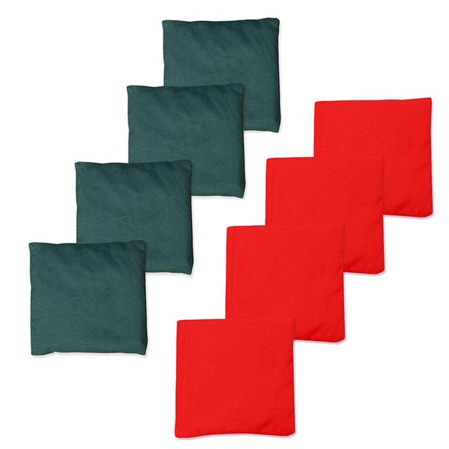 Resistente às intempéries Cornhole Sacos De Feijão Conjunto De 8-Vermelho + Verde