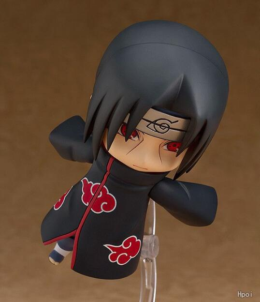 10cm Naruto Nendoroid Shippuden Uchiha Itachi 820# Anime Action Figure PVC toys Collection figures for friends gifts 3