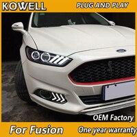KOWELL Car Styling for Mondeo Headlights 2013 2014 2015 Fusion LED Headlight Original DRL Bi Xenon Lens High Low Beam Parking