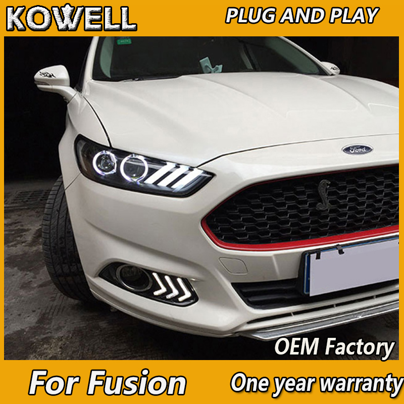 KOWELL Car Styling for Mondeo Headlights 2013 2014 2015 Fusion LED Headlight Original DRL Bi Xenon Lens High Low Beam Parking-in Car Light Assembly from Automobiles & Motorcycles