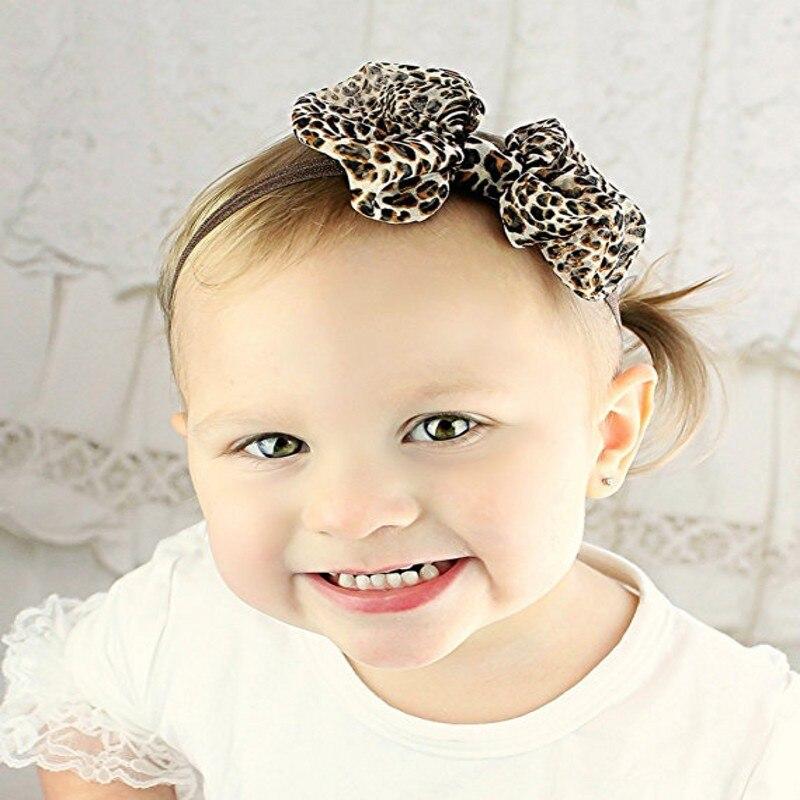 leopard print baby headband girl