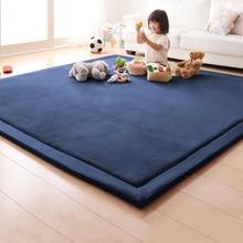 Household thickened childrens crawling carpet coral velvet rug anti-skid living room