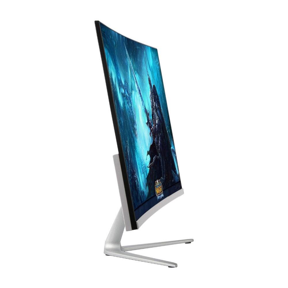 Wearson 23.8 pouces Jeu Concours Courbe Écran Large LCD de Jeu Moniteur HDMI VGA entrée 2 ms Réponse WS238H