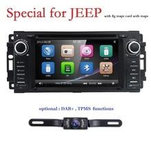 Hizpo автомобильный стерео gps dvd-плеер для Dodge Ram Challenger Jeep Wrangler JK головное устройство один Din 6,2 сенсорный экран Indash радио DAB