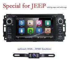 Hizpo Car Stereo Lettore DVD GPS per Dodge Ram Challenger Jeep Wrangler JK Unità di Testa Singolo Din 6.2 Dello Schermo di Tocco indash Radio DAB