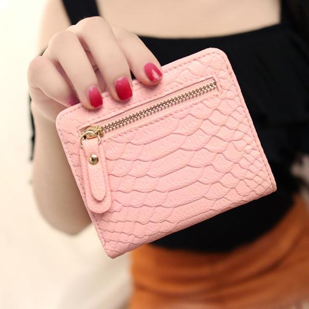 Wallet Women Crocodile Crown Long Purse Wallet Card Holder Handbag Bag