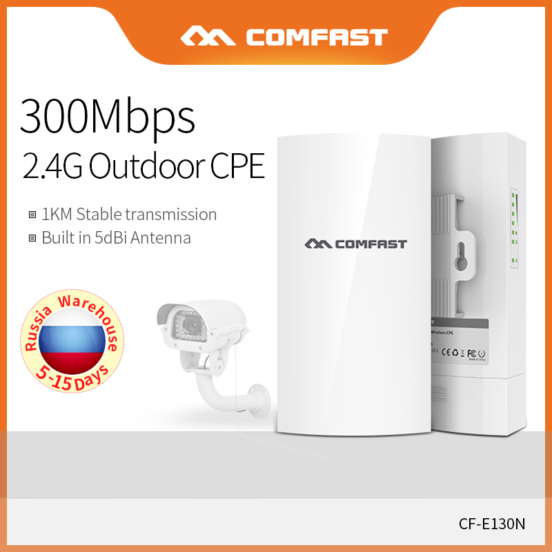 COMFAST 300Mbps Outdoor Mini Wireless AP Bridge 2.4Ghz 1KM Long Range Access Point 5dBi WI-FI Antenna Nanostation CPE CF-E130N
