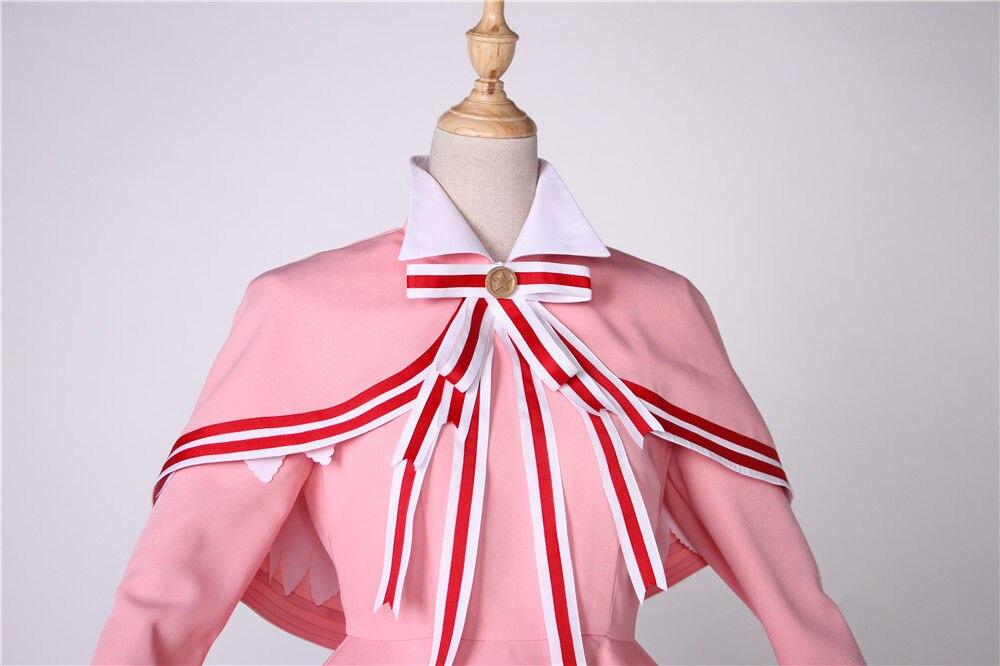 Cafiona новая карточка Captor Сакура КИНОМОТО Сакура красивый костюм для косплея девочек розовое платье на заказ - 5