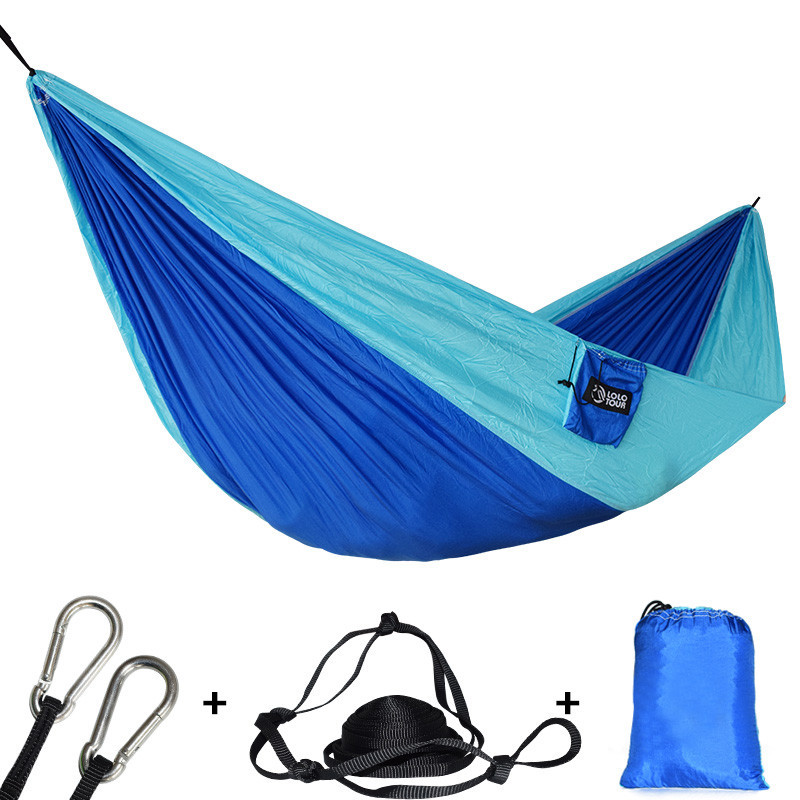 Outdoors Portable Camping Parachute Sleeping Double Hammock Garden Swing Hamac Hanging Chair Flyknit Hamaca Rede Amaca DC12