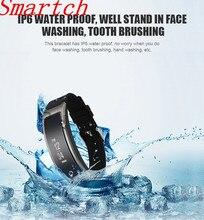 Smartch I8 умный Браслет Talk Band сердечного ритма Мониторы Приборы для измерения артериального давления часы с Шагомер сна Фитнес трекер Спорт браслет