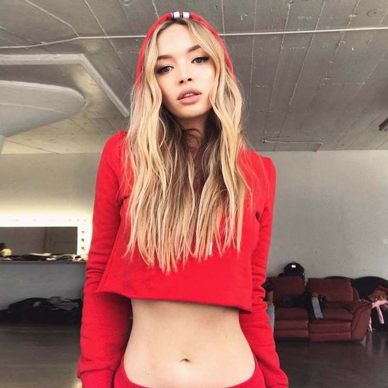 Two piece set Womens Tracksuits set Ladies Striped Active workout  Loungewear Striped Crop top Hoodie loose pants streetwear-in Women s Sets  from Women s ... 31bd158e7