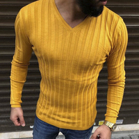 2c021b1f88ee New Men S Autumn Winter Warm Brand Casual Sweater Long Sleeve Striped  Fitness Knitted Sweaters Pullover