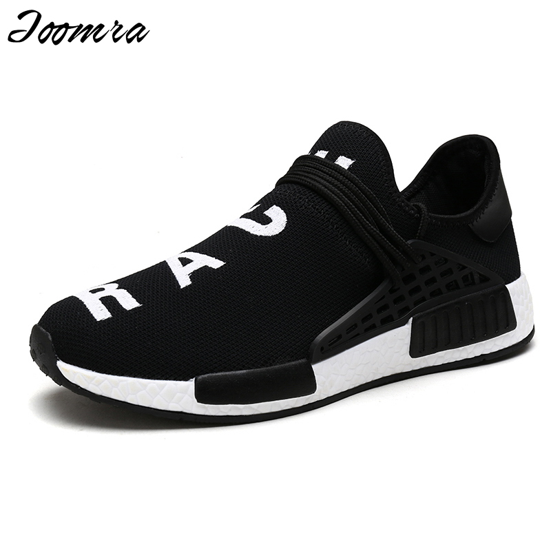 Joomra Fashion Men Casual Shoes Lightweight Breathable Air Mesh Lovers Trainers Flat Casaul Human Race Mens Shoes Zapatos Hombre 2016 new spring autumn breathable casual shoes for men british style fashion men flat shoes blade mens trainers zapatos hombre