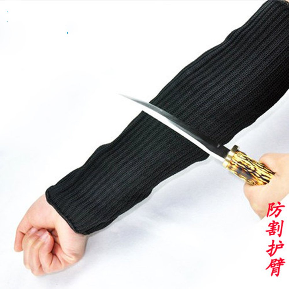 Anti-cut wrist armband anti- cut steel self-defense anti- knife scratch elbow security equipment level 5 cut resistant armband thick steel anti cut knife stab proof anti scratch glass wrist defense supplies