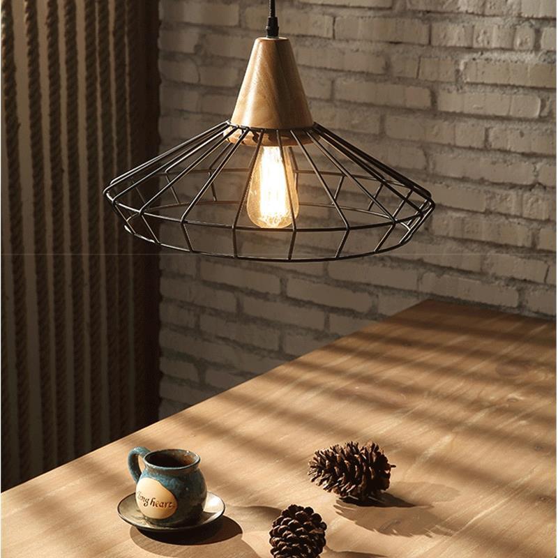 Pendant lamp Industrial retro style iron Art Pendant light black white Edison bulb American village lamps Hanging Lamp luminarie