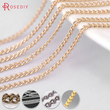 (25411)5 Meters width:1.5MM Iron Tassel Chains Extended Chains Necklace Chains Diy Jewelry Findings Accessories