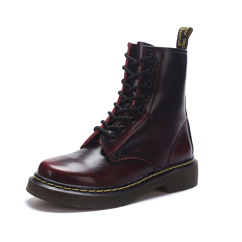 Motorcycle Boots Punk Style Neutral Cool Fashion Women Shoes 2018 Spring Lace-Up Martin Boots Classic Woman Boots Large Size 44 james chellis mcsa