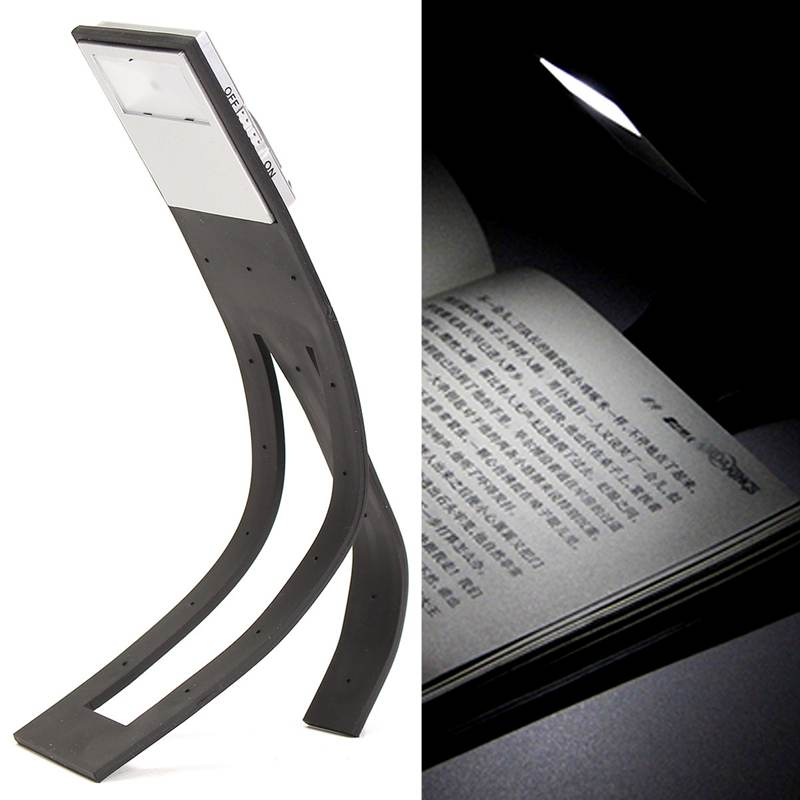 Travel Flashlight Flexible Clip On LED Booklight Night Light Lamp Desk Reading Book Lamp Bright White Book Light