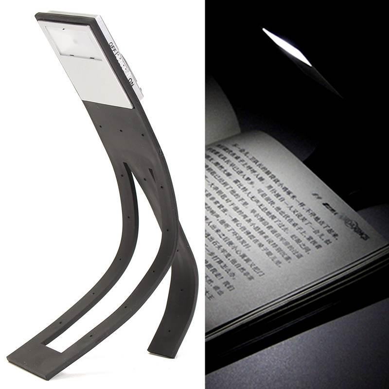 Travel Flashlight Flexible Clip On LED Booklight Night Light Lamp Desk Reading Book Lamp Bright White Book Light