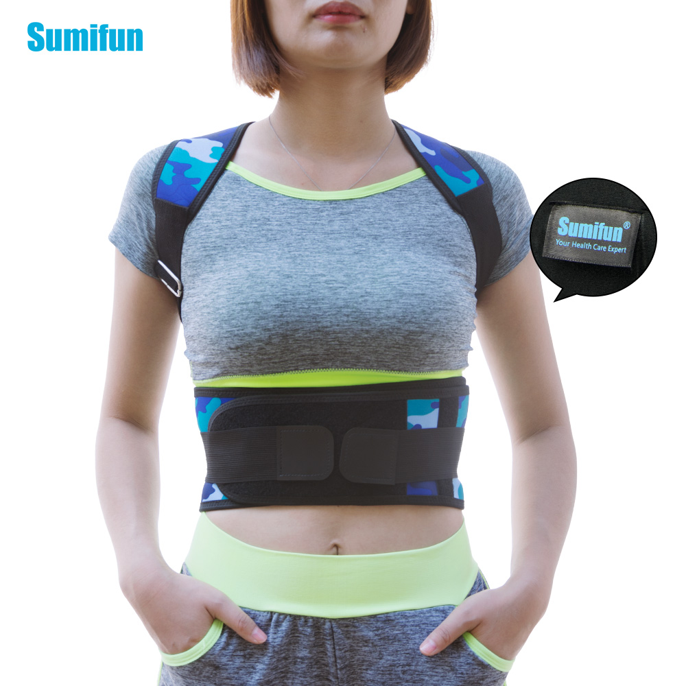 Unisex Adjustable Posture Correction Kyphosis Clavicle Brace Comfortable Correct Shoulder Posture Support Strap Z728