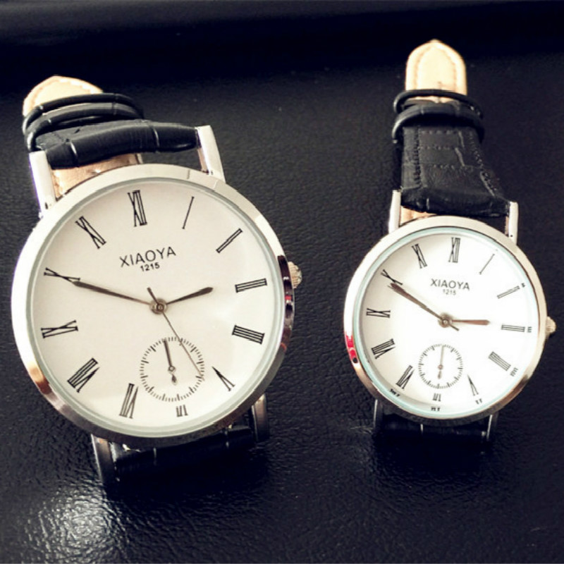 2016 New Women Dress Watches,Watches Men Luxury Brand Fashion Casual Lover Couple Multi-Color Leather Strap Relogio Feminino