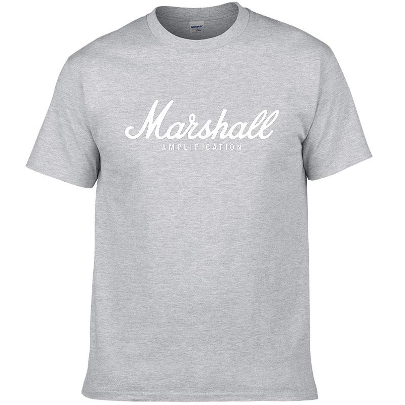 100% cotton Marshall T Shirt men short sleeves tee hip hop street wear for fans hipster 61