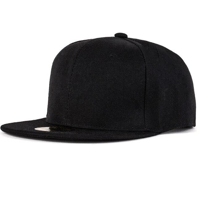ebb7e880850 2016 new fashion snapback Solid color baseball cap flat-brimmed hat visor  hat wild personality hip hop hats for men women