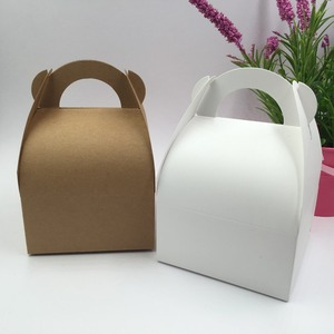 Image 5 - 30 teile/los Natürliche braun und weiß Box,Kraft Papier Verpackung Box, seife Box