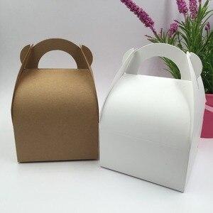 Image 5 - 30pcs/lot  Natural  brown and white Box,Kraft Paper  Packing  Box,soap  Box