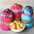 Promoção ouro mini Tuo Cha pu-erh chá pu erh chinês Yunnan puer Tuo 4 sabores diferentes 20 pcs embalagem saco do presente chá