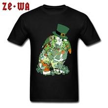 34114468f50 Cute Mens TShirt St.Patricks Day Bunny Tops T Shirt New Crew Neck Black T